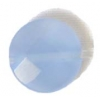 Facet Puff Reconstructed B-grade 16in 10mm Chalcedony